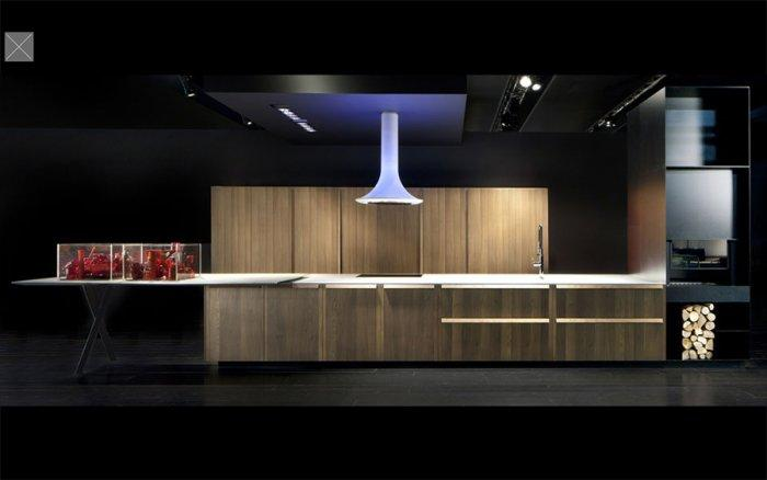 luxury-modern-kitchen-in-black-illuminated-with-purple-led-light Interior Design and Furniture trends for cooking areas