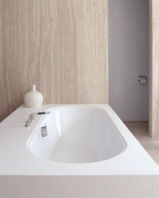 minimalist - bathroom in earth tones