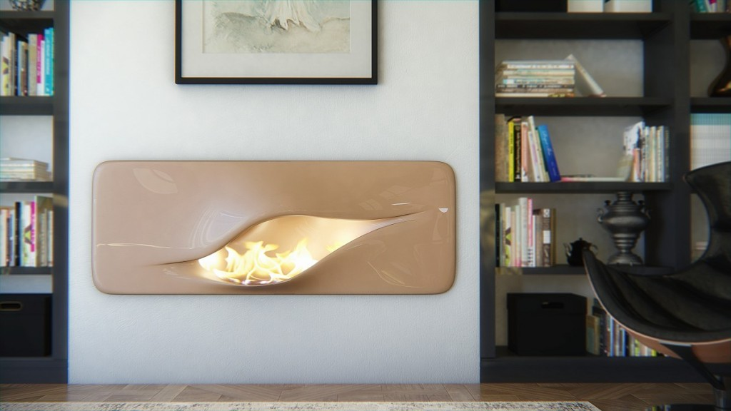 minimalist fireplace design-Contemporary installations for warmth in home