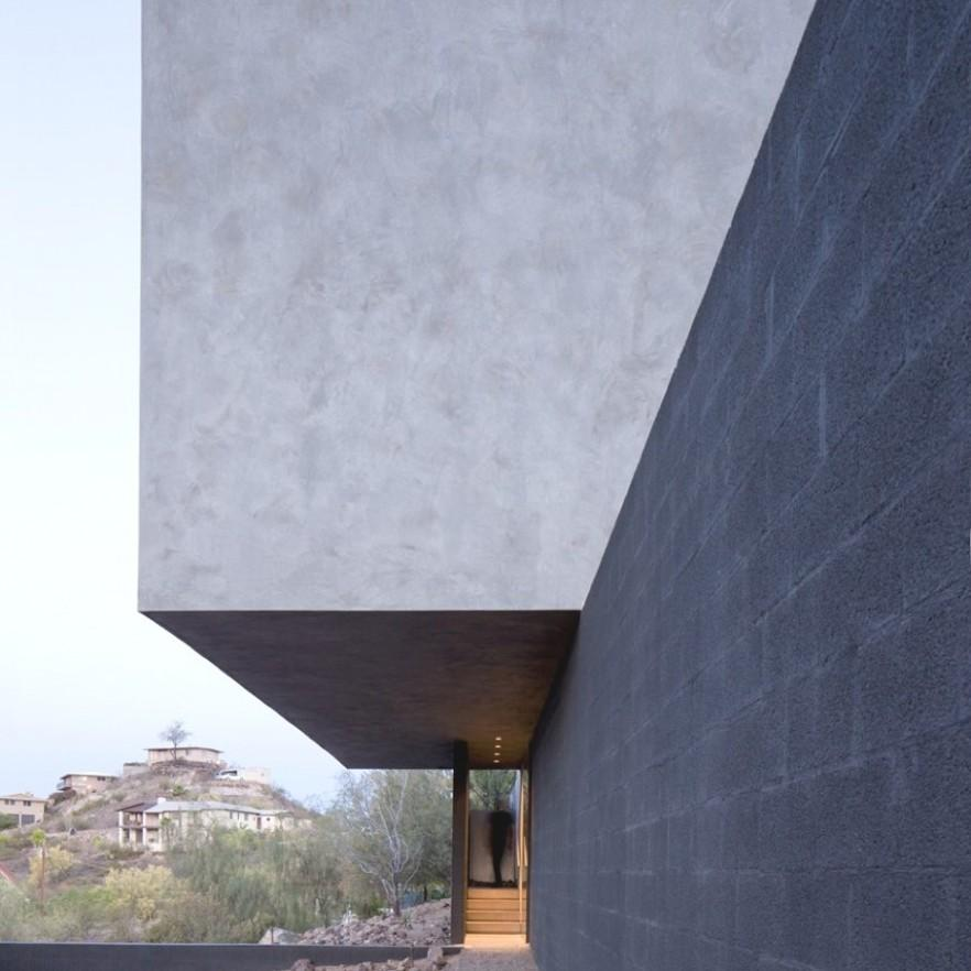 Minimalist Interior And Exterior Of A House In Arizona