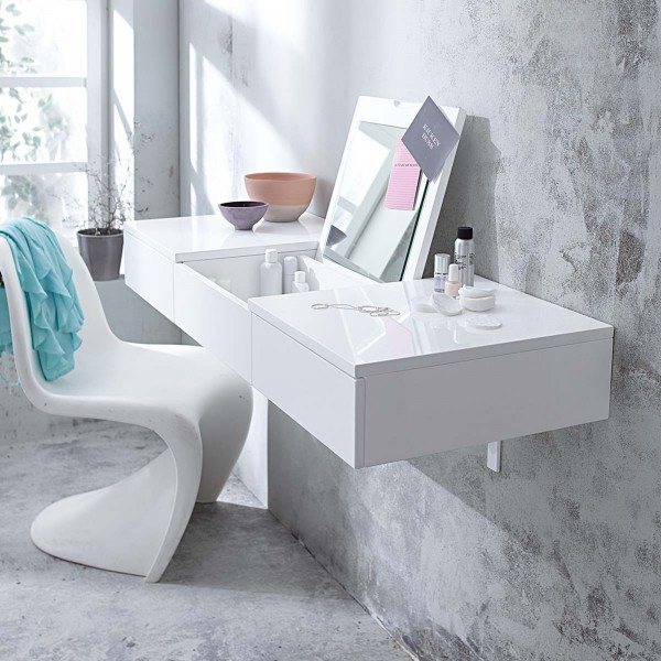 minimalist-private-bathroom-vanity-in-white- 21 Creative and Functional Home Furniture Examples