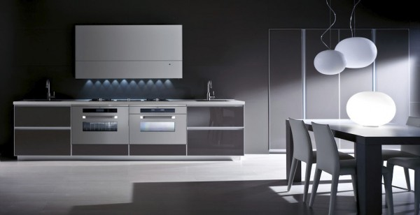 modern-dark-colored-kitchen-showing-strict-dynamics- Interior Design and Furniture trends for cooking areas