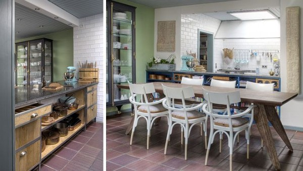 modern-kitchen-and-dinning-area-with-a-rustic-touch- Interior Design and Furniture trends for cooking areas