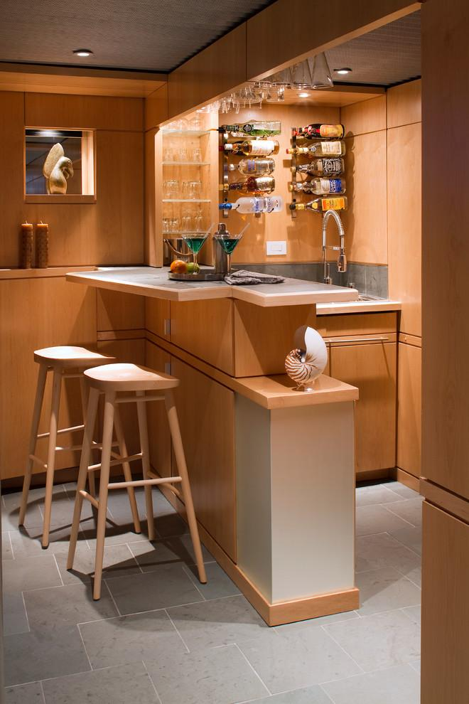 Modern small and simple home bar in light colors - Interior Design Trends - Having a Pub in the house