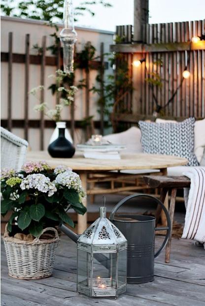 romantic-outdoor-corner-set-for-relaxation- Contemporary Outdoor Garden Ideas