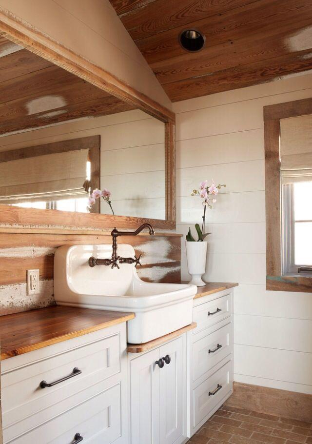 rustic bathroom vanity with bronze faucet-Rough, yet elegant and authentic Private Room