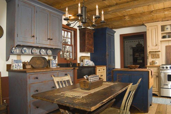 Rustic kitchen with antique furniture and decorations - 16 Advices and Examples for Creating a Cozy Atmosphere in the Cooking Areas
