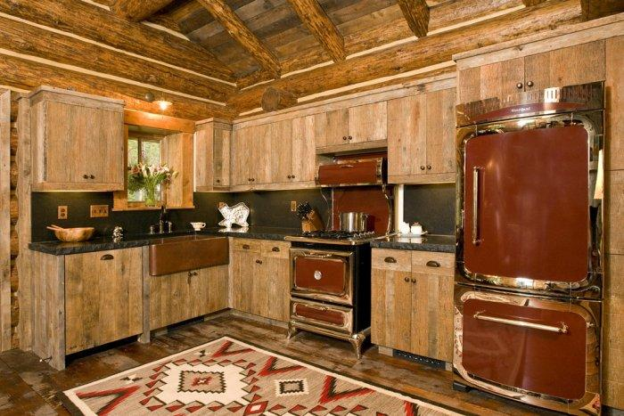 Rustic kitchen with vintage appliances - 16 Advices and Examples for Creating a Cozy Atmosphere in the Cooking Areas