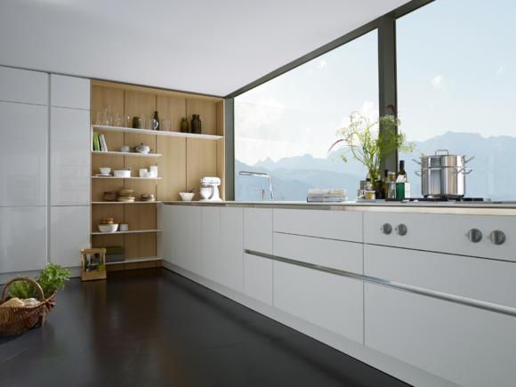 simple-white-kitchen-in-urban-style-with-amazing-views- Interior Design and Furniture trends for cooking areas