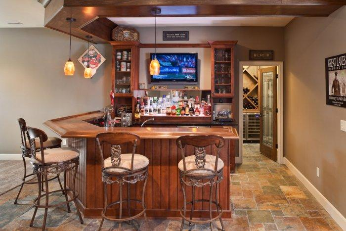 Small home bar perfect for watching sport games - Interior Design Trends - Having a Pub in the house