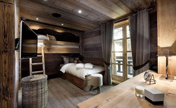 small-kids-bedroom-with-modern-design- Le Petit Chateau in the French Alps