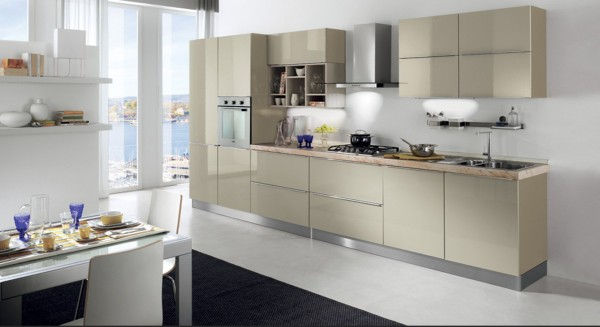 small-urban-apartment-kitchen-in-light-colors- Interior Design and Furniture trends for cooking areas