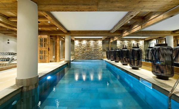 spa-and-wellness-room-in-a-mountain-getaway-in-France- Le Petit Chateau in the French Alps