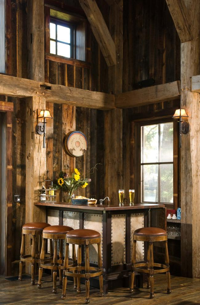 Spacious rustic home bar located in one the rooms - Interior Design Trends - Having a Pub in the house
