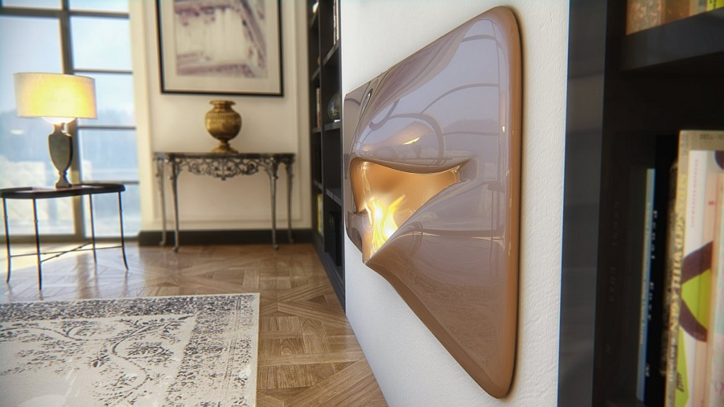 stylish futuristic living room fireplace-Contemporary installations for warmth in home