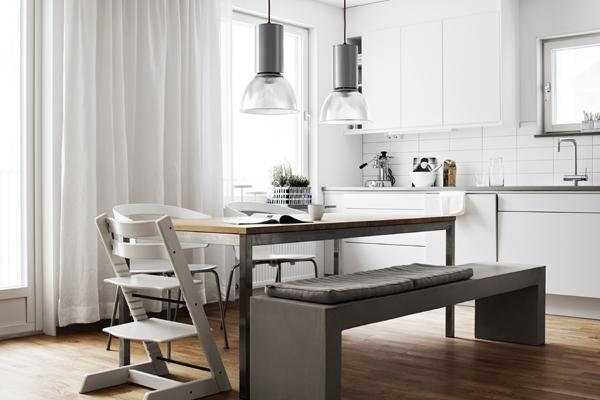 stylish swedish small dining area- Minimalist Small Apartment Interior Design