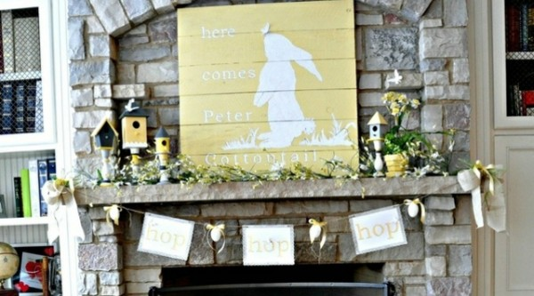 Easter Decorating Mantel Ideas 19 fantastic easter fireplace mantle decorating ideas | founterior