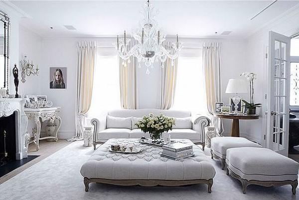 Interior Design White Pink Violet Living Room