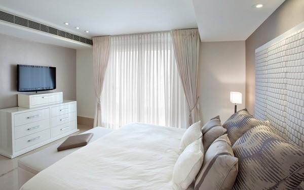 Comfortable cozy guest bedroom in elegant style