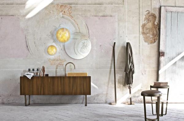 Contemporary shabby chic bathroom interior design