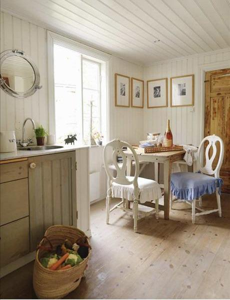 Cozy Shabby chic living space- interior design and home decorating ideas