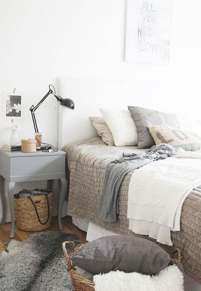 Cozy neutral bedroom– elegant interior design for sleeping rooms