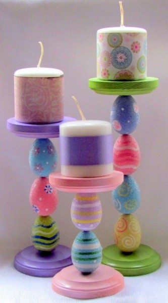 Creative Easter candleholders-home decorations with impressive holiday ideas