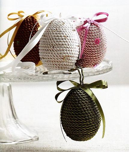 Creative eggs in different colors
