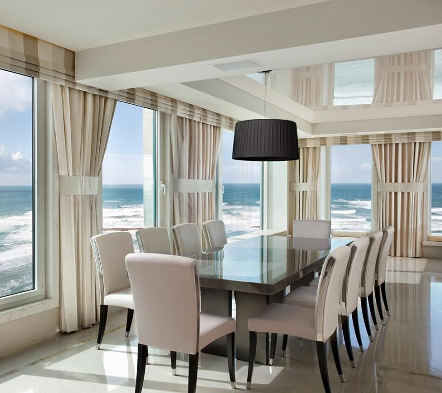 Luxurious seaside apartment design in tel aviv founterior - Deco lounge huis schilderen ...