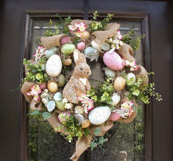 Easter Bunny Wreath for the Front Door-home decorations with impressive holiday ideas
