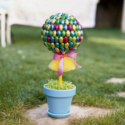 Easter Topiary Tree for garden use-home decorations with impressive holiday ideas