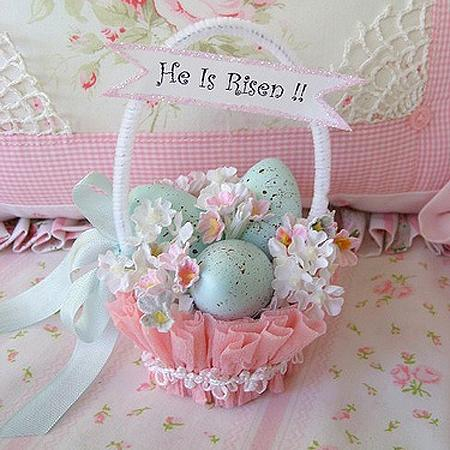 Easter decoration – egg basket