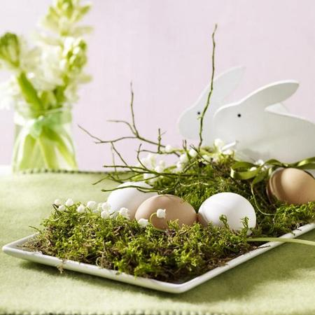 Easter decoration in fresh spring green