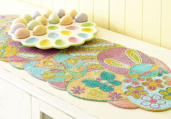 Easter egg holder and colorful base