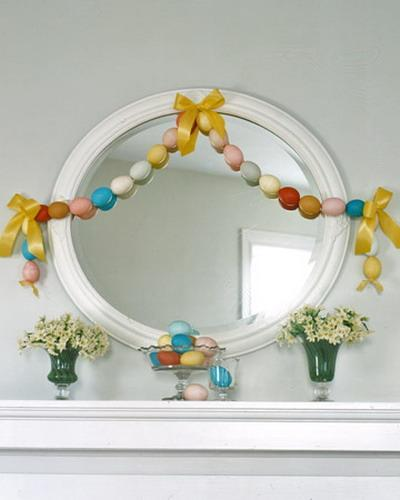 Easter garland made of eggs