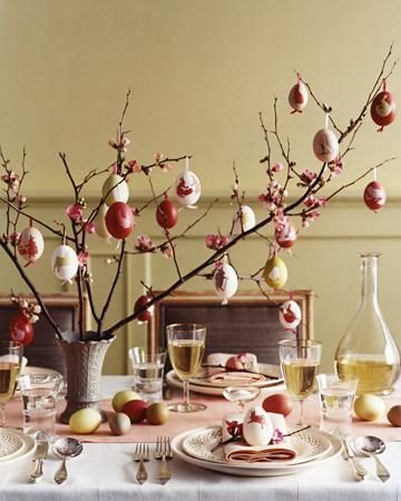 Easter natural table centerpiece