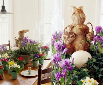 Funny Easter bunny table centerpiece