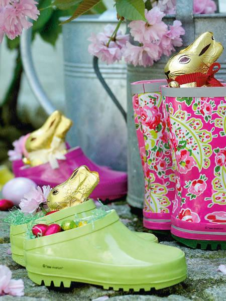 Funny colorful Easter bunnies