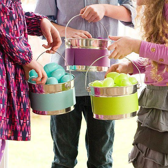 Great Easter egg baskets-home decorations with impressive holiday ideas