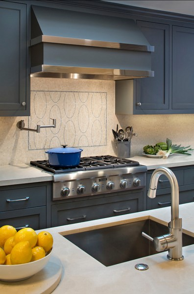 Grey kitchen with modern faucet-42 Kitchen Interior Design Trends for Traditional Homes