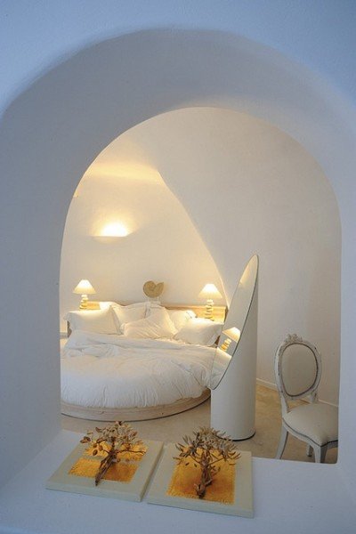 Hotel room in Cycladic architecture-Bedroom Interior Design Examples Inspired from Hotel Rooms