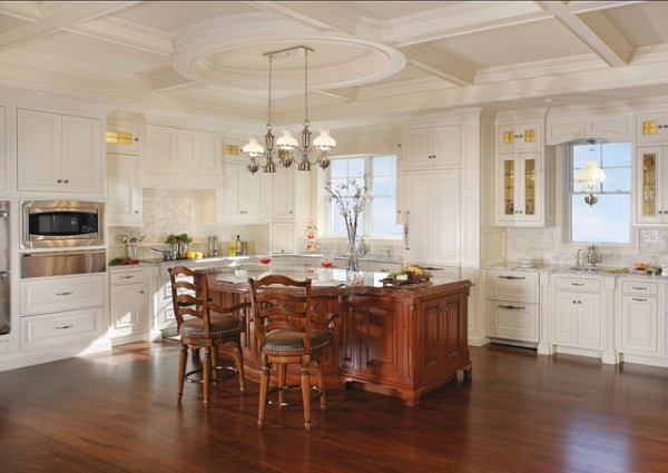Kitchen with Coffered Ceiling-42 Kitchen Interior Design Trends for Traditional Homes