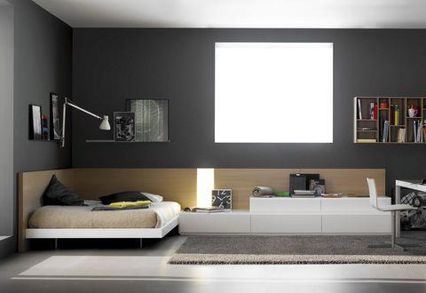 Luxurious teen bedroom in dark tones founterior for Litera mueble joven
