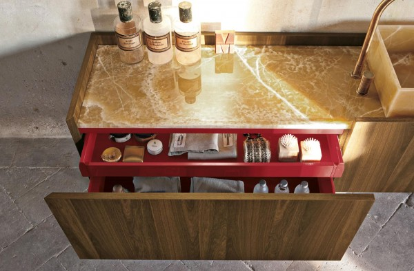 Marble countertops for contemporary bathroom cabinets