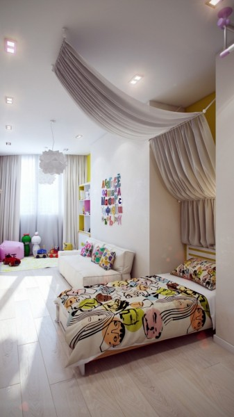 Modern kids bedroom with colorful accents- interior design and decoration ideas for children living areas