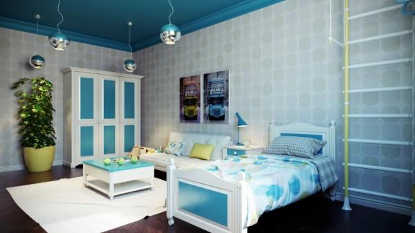 Modern kids room with cozy arrangement- interior design and decoration ideas for children living areas