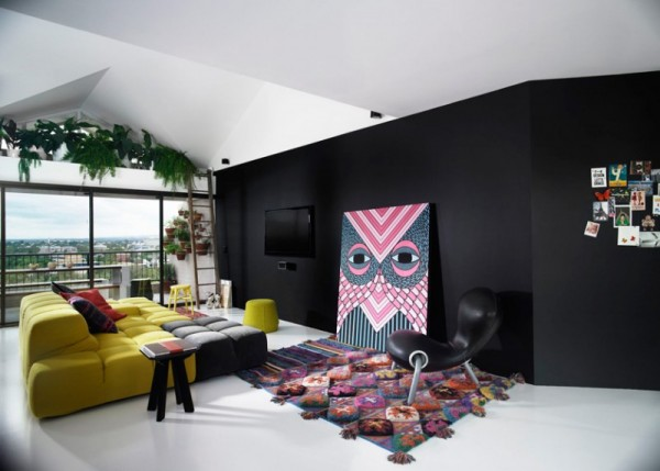 Contemporary luxurious penthouse interior design in australia founterior Contemporary urban living room