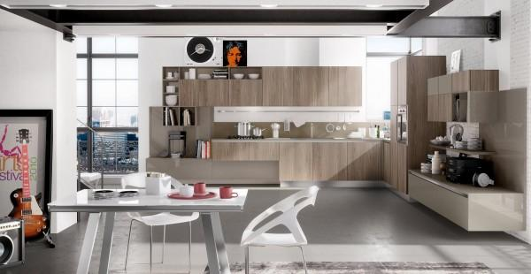 Modern masculine kitchen with earth tones