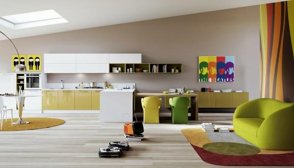 18 Modern Kitchen Designs with Colorful Stylish Accents   Founterior