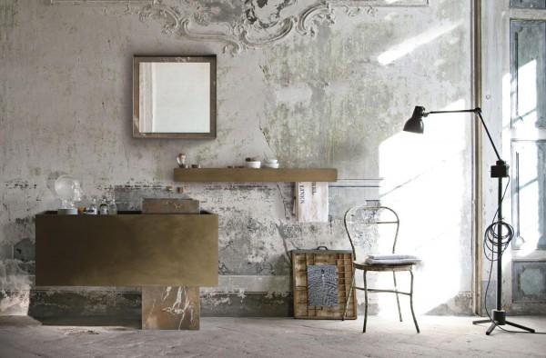 Modern vintage bathroom interior design